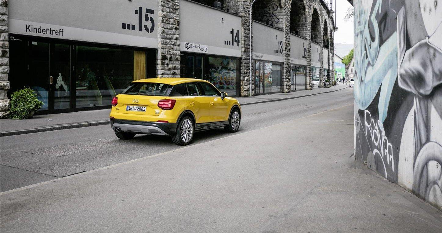 Audi Q2 tre quarti post