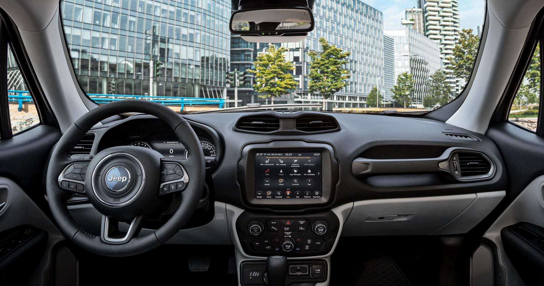 Jeep Renegade xe interni